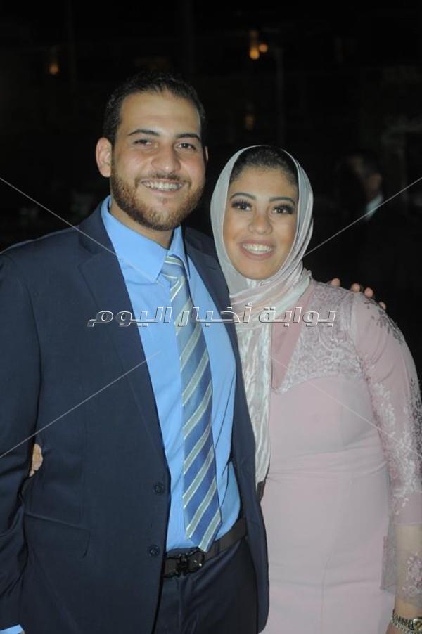 الليثي وسعد الصغير وأبوالليف يشعلون زفاف «محمد وميرنا»