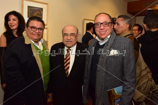الفقي وشنودة وخالد جلال يحتفلون بافتتاح معرض فاروق حسني