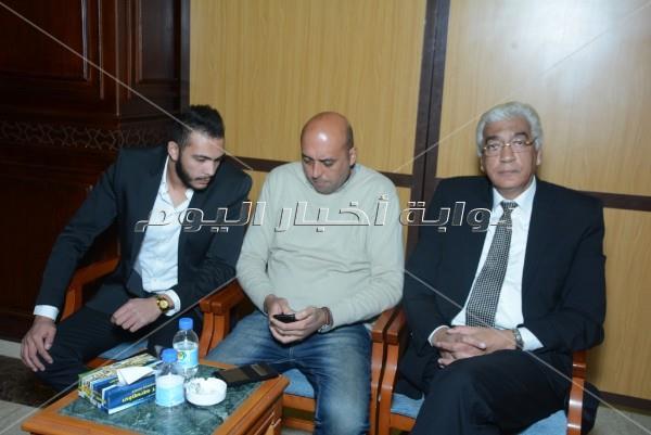 مصطفى قمر ونصر محروس في عزاء عاطف المناوي