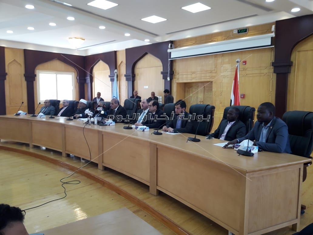 مؤتمر صحفي في جامعة الأزهر