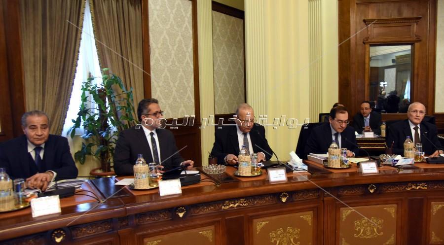 رئيس الوزراء يترأس اجتماع الحكومة الاسبوعي _ تصوير: أشرف شحاتة