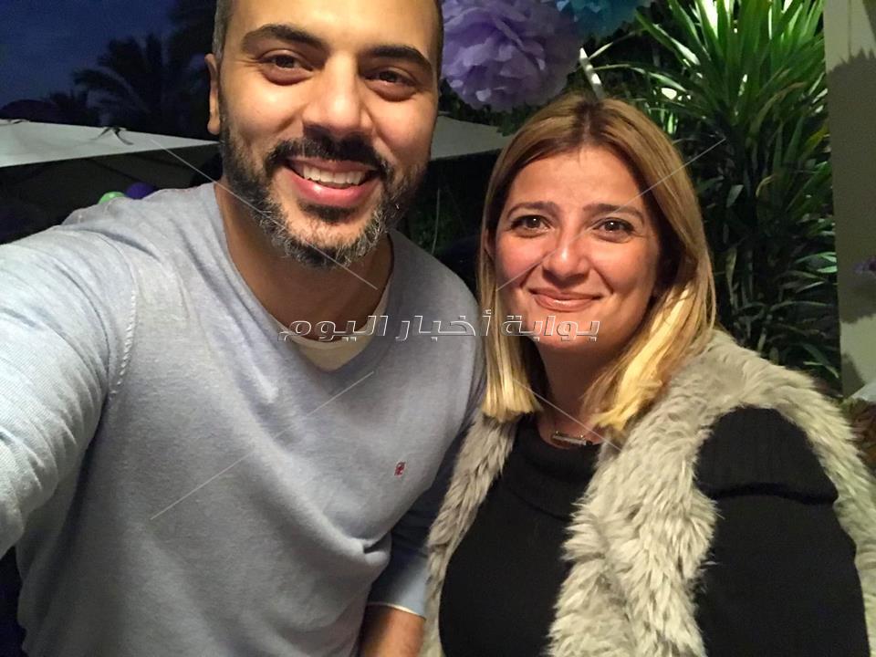 داليا البحيري ولقاء الخميسي وساندي تحتفلن بعيد ميلاد أحمد فريد