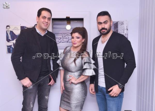 أحمد هارون وصفاء جلال يحتفلان بعيد ميلاد ناهد عوني