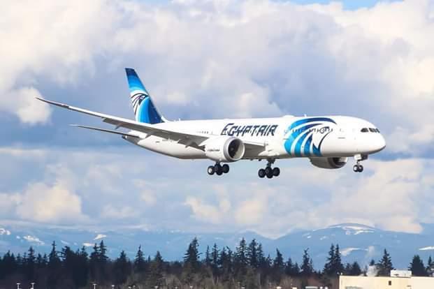 طائرة مصر للطيران الجديدة تجري اول تجاربها بامريكا قبل تسليمها
