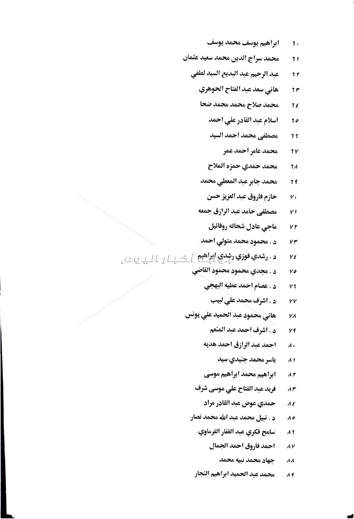بالاسماء  ترقية 993مستشار بقضايا الدولة الى درجات مختلفة
