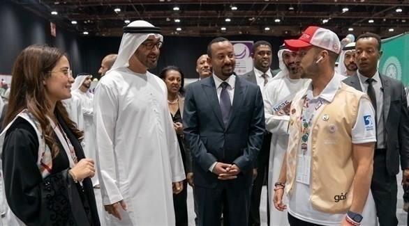 محمد بن زايد ورئيس وزراء إثيوبيا يشهدان جانباً من منافسات الأولمبياد الخاص