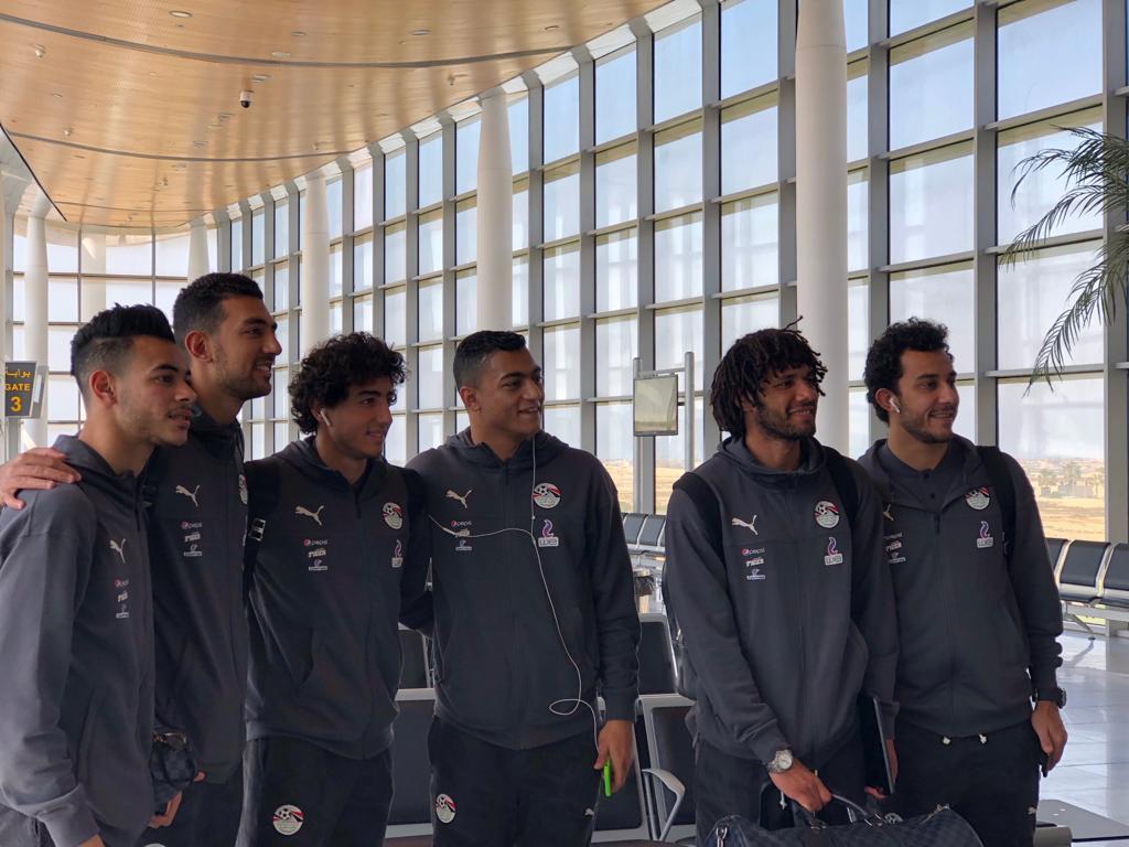 بعثة المنتخب تغادر مطار برج العرب متوجة إلى النيجر