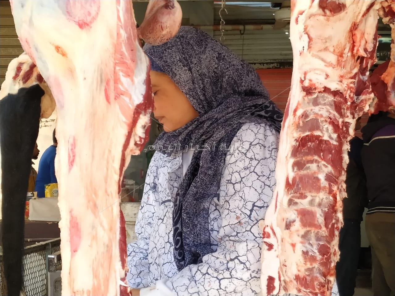 معلمة الجزارة في بلبيس