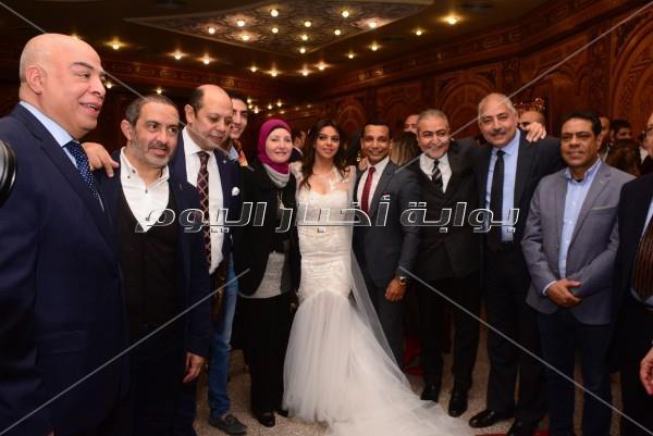 نجوم الكرة المصرية في عقد قران ابنة أحمد سليمان