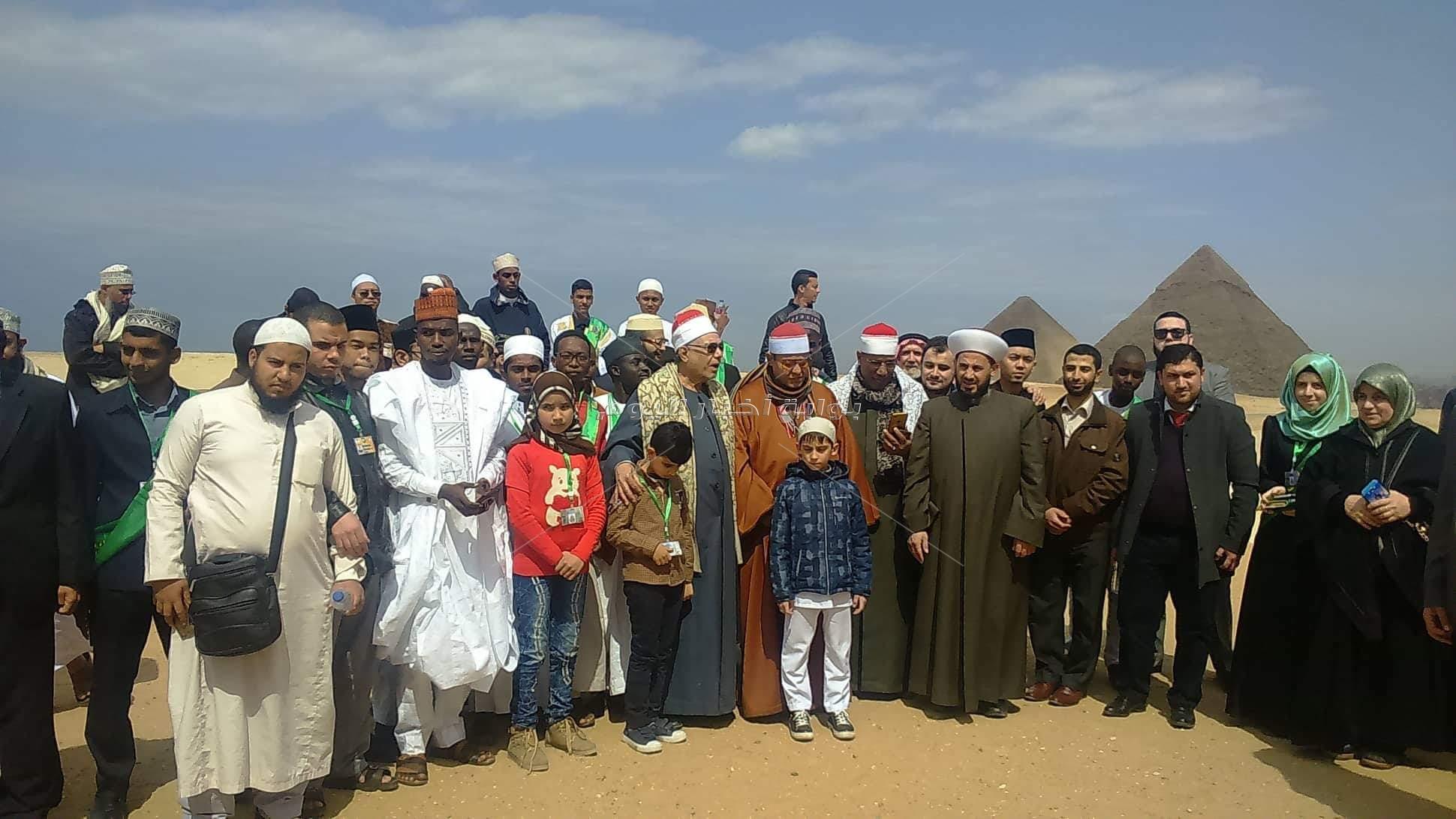 جولة وفود مسابقة القرآن الكريم العالمية في الأهرامات