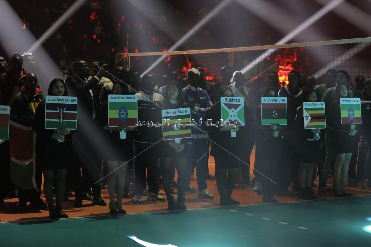 25 صورة من حفل افتتاح بطولة أفريقيا للطائرة بالأهلي