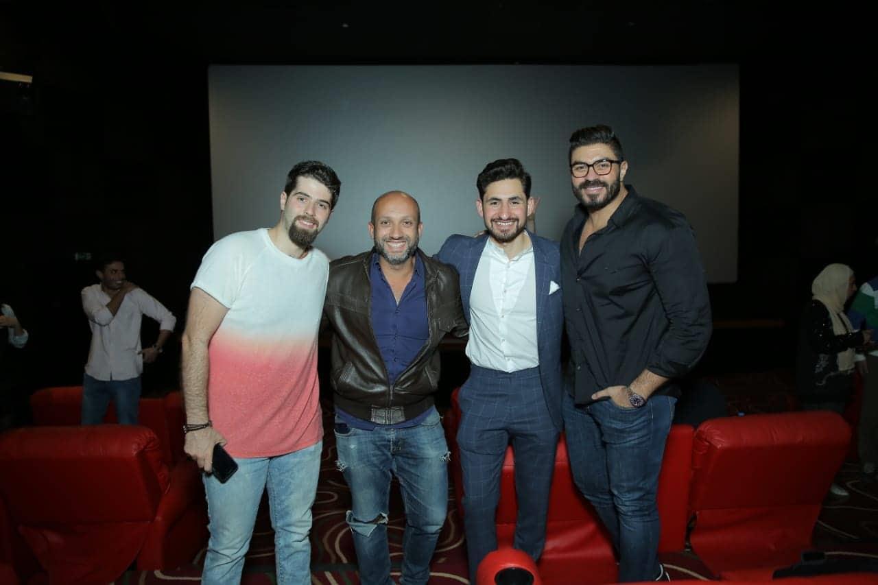 أمير المصري وخالد سليم في العرض الخاص لفيلم «المحارب العربي»