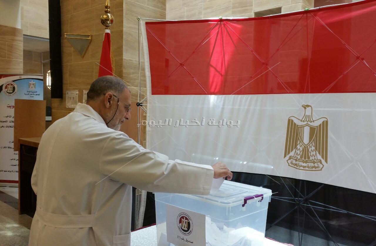 التعديلات الدستورية في قنصلية مصر بجدة