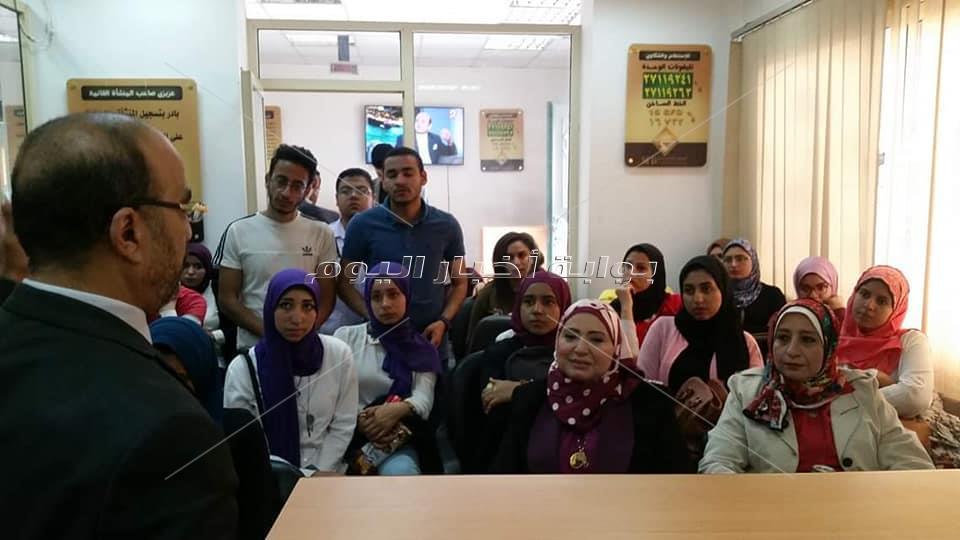 كلية الآداب جامعة حلوان فى زيارة لجهاز تنمية المشروعات الصغيرة