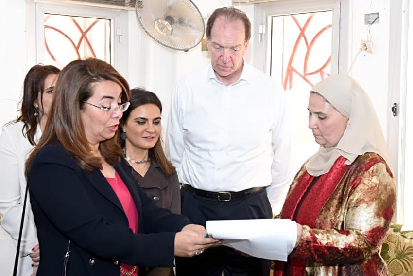 زيارة رئيس البنك الدولي ووزيرتا الاستثمار والتضامن لمركز تكافل وكرامة بأسوان