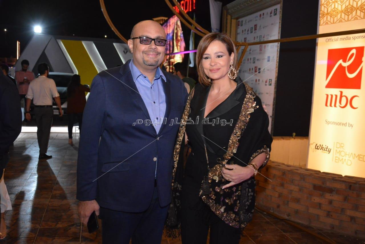 أنوشكا وكارول سماحة وخالد الصاوي في افتتاح خيمة «kerdan»