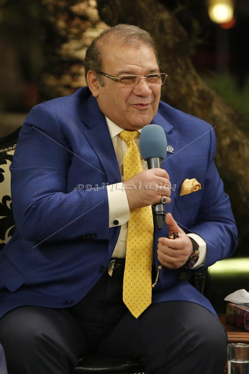 علي جمعة ضيف حسن راتب على مائدة «صالون المحور» في أمسية رمضانية