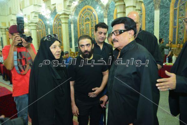 سمير غانم وهنيدي وشهيرة في عزاء محمد نجم