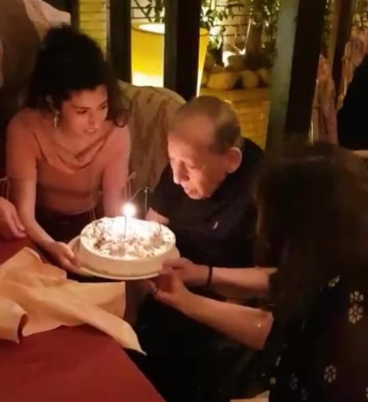 مفيد فوزي ولطفي لبيب يحتفلان بعيد ميلاد جورج سيدهم