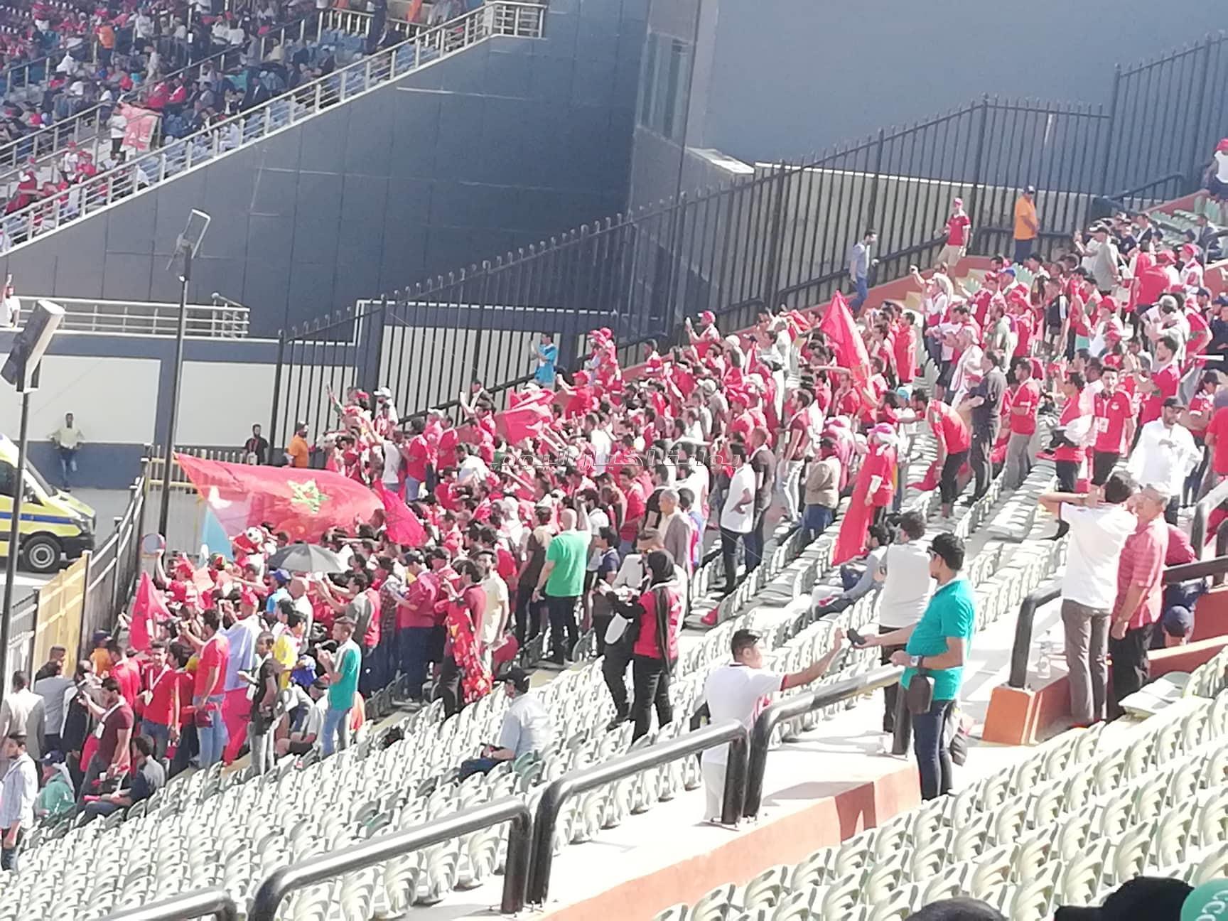 الجماهير المغربية تؤازر منتخبها أمام ناميبيا