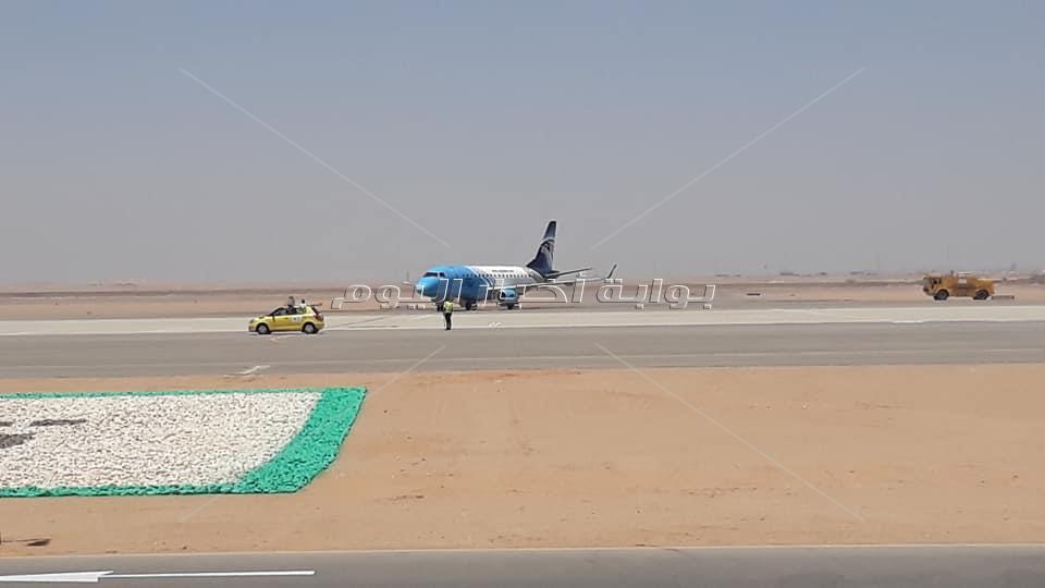 صور وصول أول رحلة لمصرللطيران لمطار العاصمة الدولي