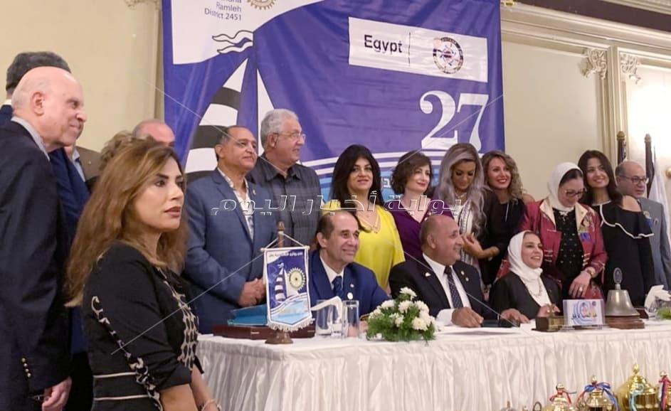 خالد مصطفى يتسلم رئاسة روتاري إسكندرية رمل