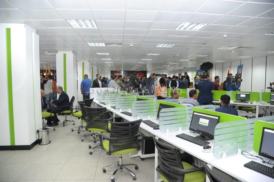 افتتاح الصالة المدمجة بمؤسسة أخبار اليوم