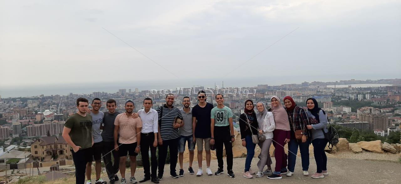 جامعة داغستان الروسية تستضيف وفد طلابي من جامعة أسيوط