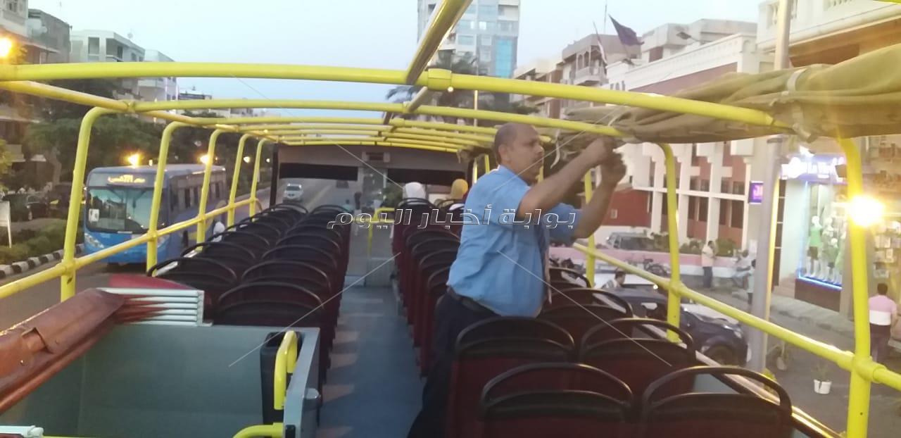 الأتوبيس السياحي بلا سقف 7 ساعات يوميا لمشاهدة معالم الإسكندرية