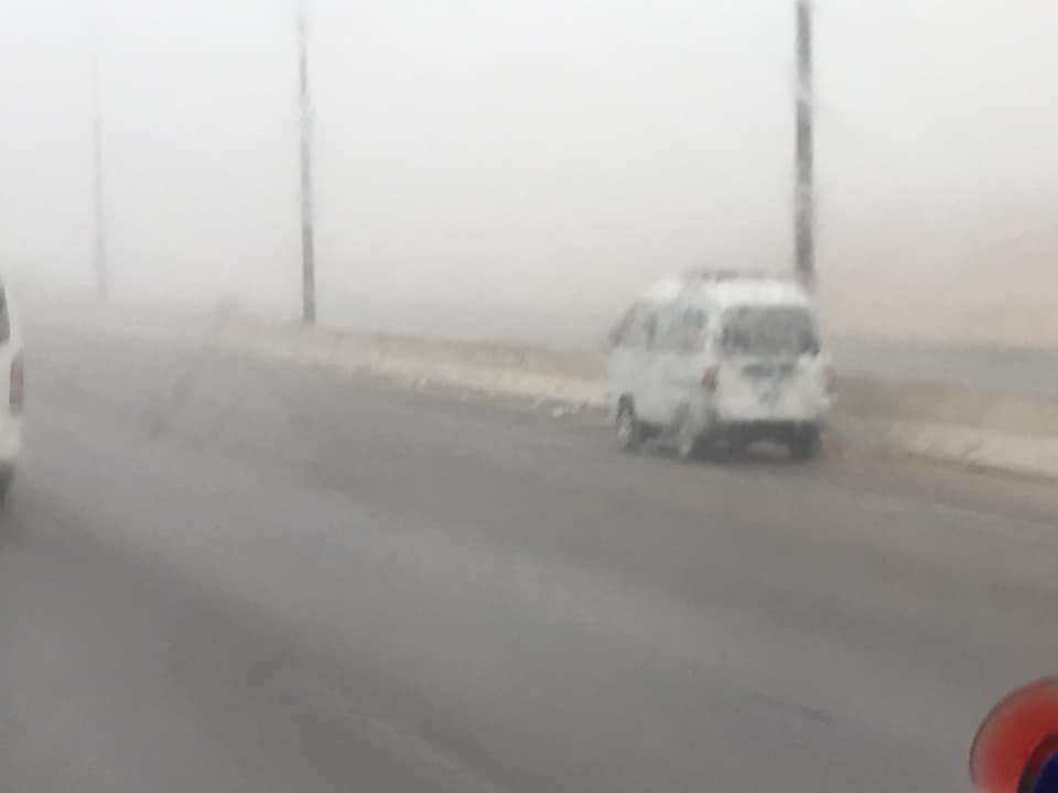 احذر الشبورة الكثيفة بطريق مصر اسكندرية الصحراوي