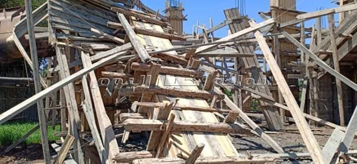 إزالة  ( 9 ) حالات تعدى على الأراضى الزراعية بمساحة 1287م2 بمدينة سرس الليان خلال أجازة عيد الأضحي