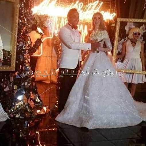 نجوم الفن فى حفل زفاف احمد فهمى وهنا الزاهد