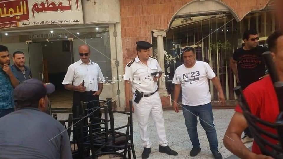 حملة اشغالات مكبرة بشارع إيران وميدان عمان بالدقي