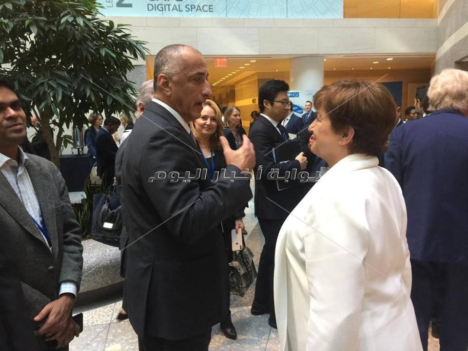 منافشات طارق عامر مع مديرة صندوق النقد