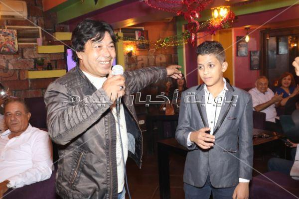 حمدي بتشان يحتفل مع نجوم المجتمع بعيد ميلاد إبراهيم شعراوي