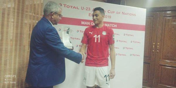 مصطفى محمد رجل مباراة مصر ومالي
