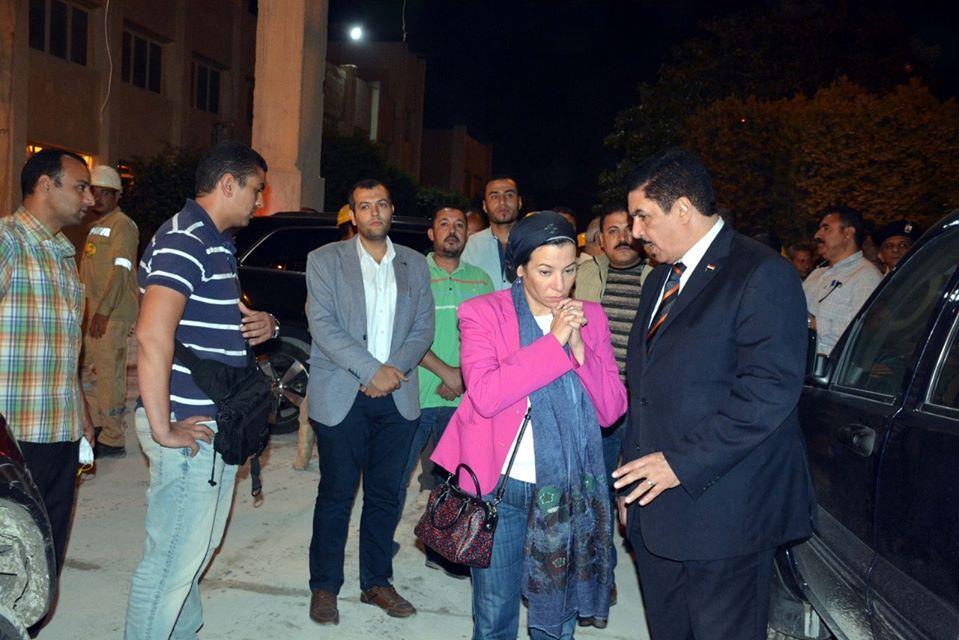 وزيرة البيئة تتفقد مصنع أسمدة أبو زعبل بعد إصابة 27 مواطن بالإختناق