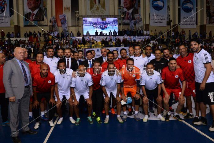 وزير الرياضة ونجوم الكرة في نهائي دوري «مستقبل وطن»