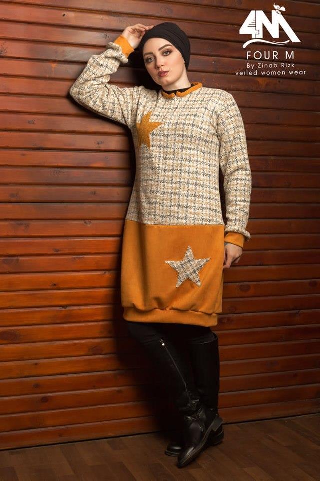 أزياء شتوية للمحجات ذو رونق جديد
