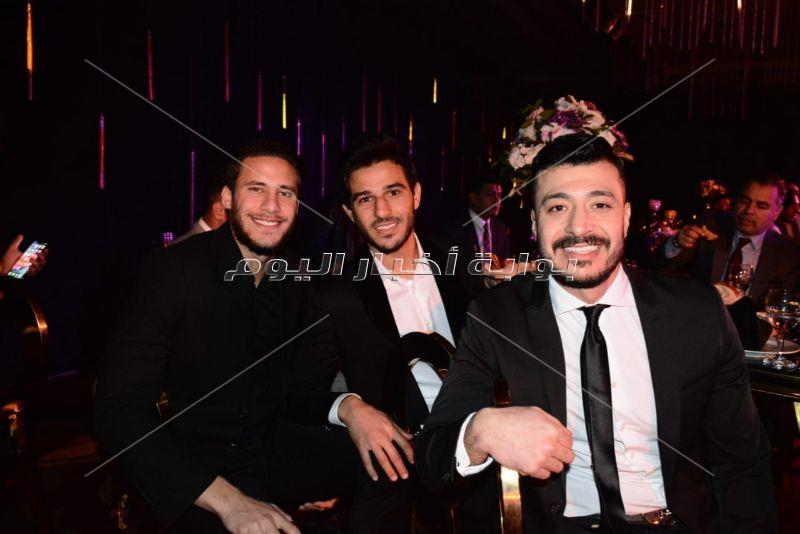 نجوم الأهلي يحتفلون بزفاف أحمد الشيخ