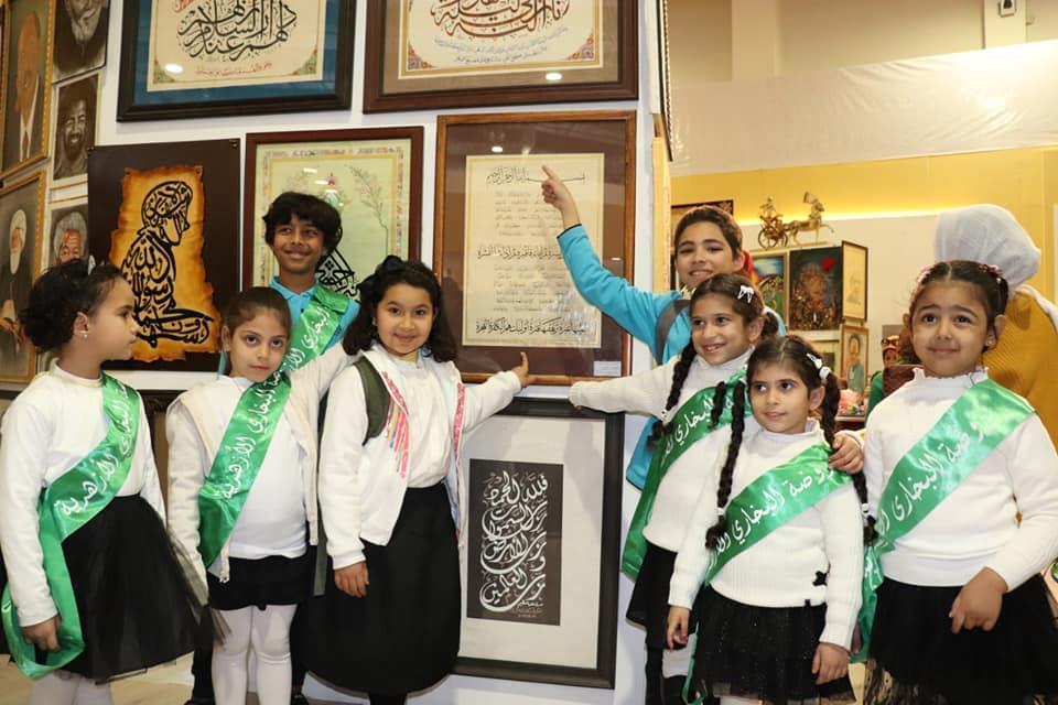 """""""قيمة النيل والحفاظ عليه"""" رسالة رياض أطفال الأزهر بجناحه بمعرض الكتاب"""