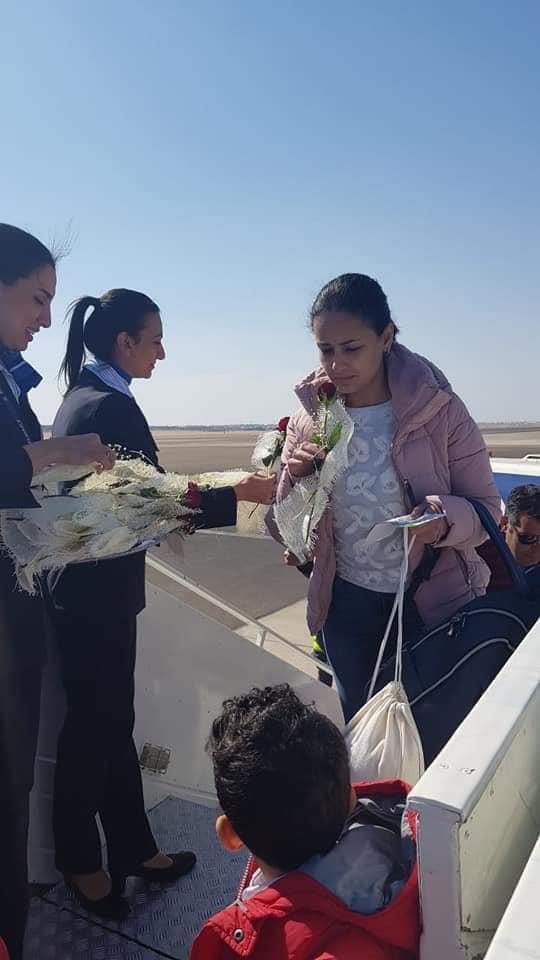 مصر للطيران تحتفل بركاب أولى رحلتها بين مدينتي شرم الشيخ و الأقصر