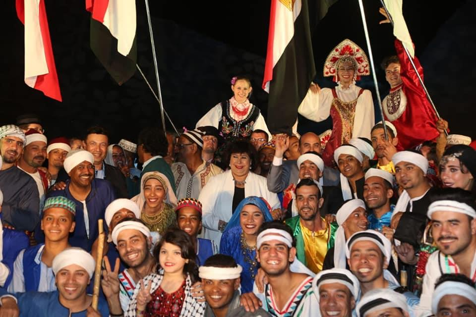 وزير الثقافة ومحافظ اسوان يشهدان احتفالية تعامد الشمس على وجه رمسيس الثانى بمعبد ابو سمبل