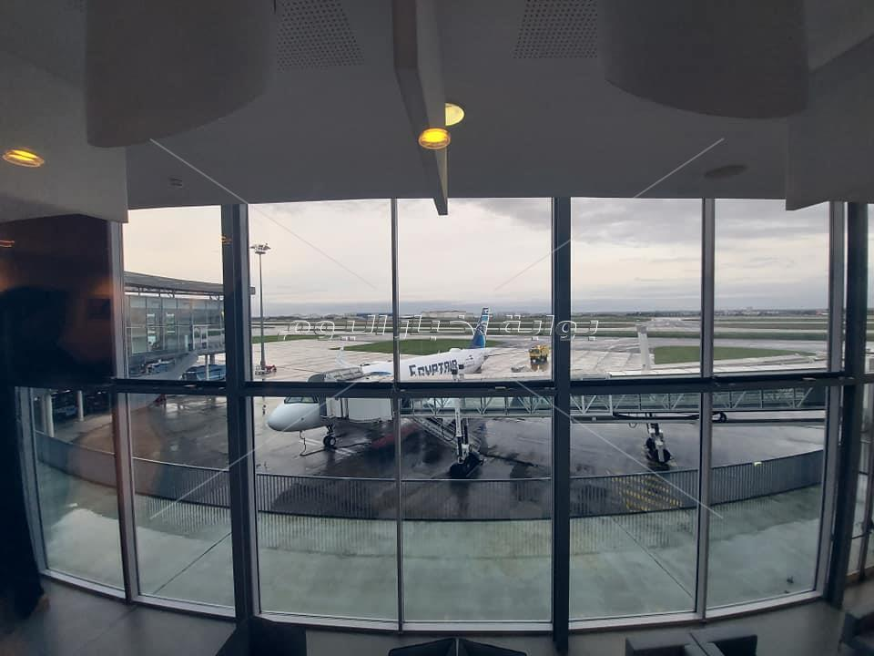 الطائرة الرابعة لمصر للطيران من طراز الإيرباص« A320 neo » تستعد للإقلاع من تولوز