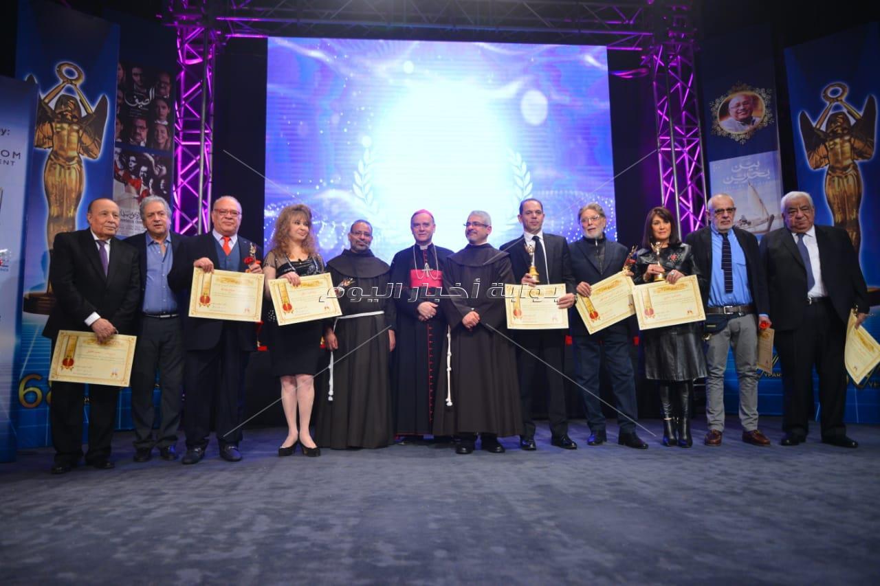 تكريم نجوم الفن بحفل افتتاح مهرجان المركز الكاثوليكي للسينما