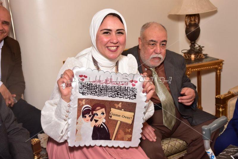 أشرف عبدالباقي وخالد سليم في عقد قران الإعلامي هشام صلاح
