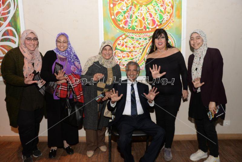أشرف زكي وفيفي عبده وخالد جلال يفتتحون معرض حسين العزبي