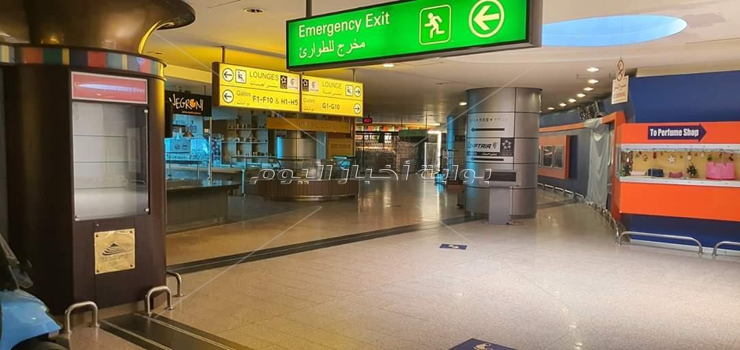 مطار القاهرة بدون ركاب بسبب كورونا