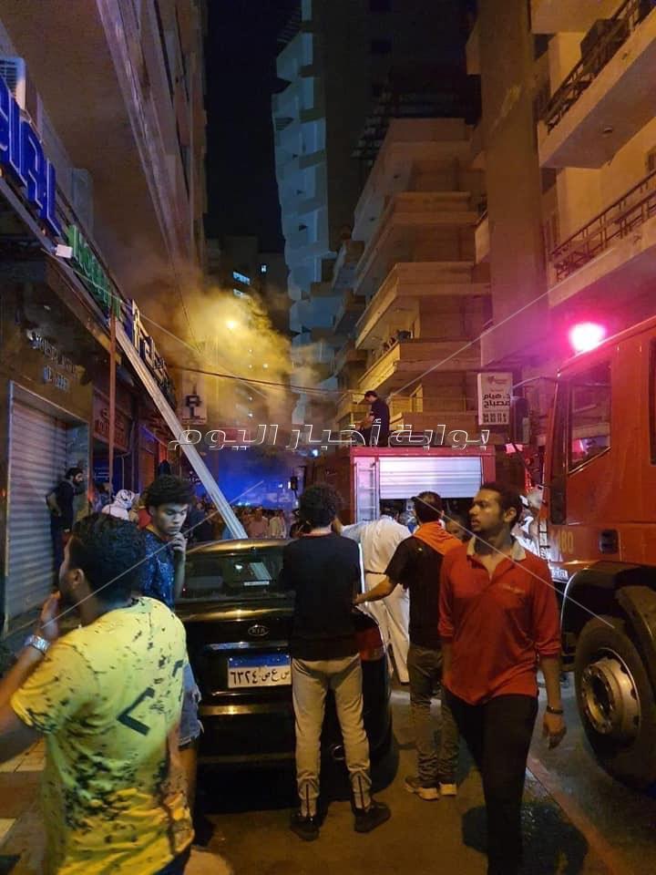 حريق هائل بمستشفى أجيال في الإسكندرية.