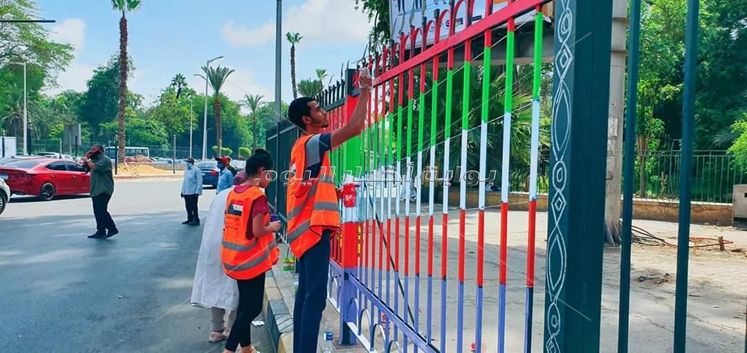 شوارع وأسوار ميدان الجيزة بالالوان